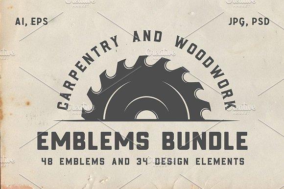 Vintage Carpentry Emblems Part 2 Logo Templates Creative Market