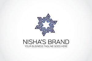 Nisha's brand Logo template