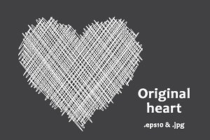 White original pictured heart