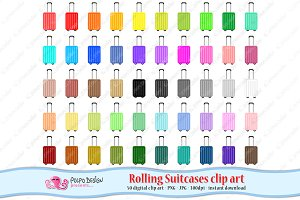 Rolling Suitcase clipart