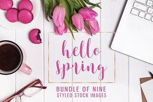 Hello spring. Stock photo bundle #1