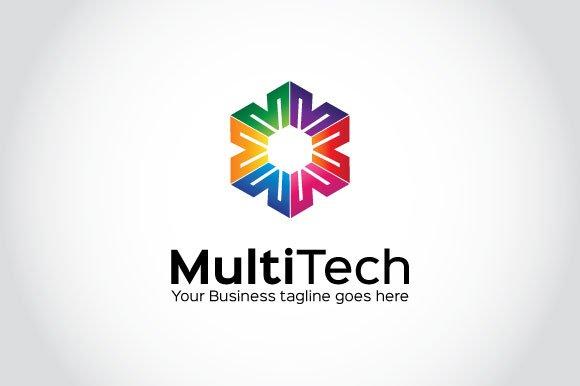 Multi tech logo template logo templates creative market flashek Gallery