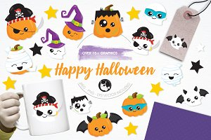 Happy Halloween illustration pack