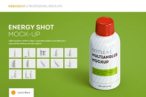 Energy Shot / Energy Drink Mock-up