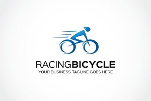 Racing bicycle logo Template