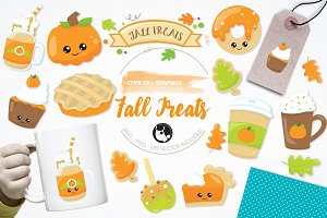 Fall treats illustration pack