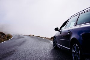 Driving up a Mountain Road in Norway