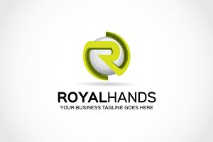 Royal hands logo Template