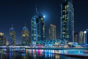 Dubai night skyline