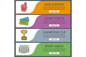 Sport game banners. Vector