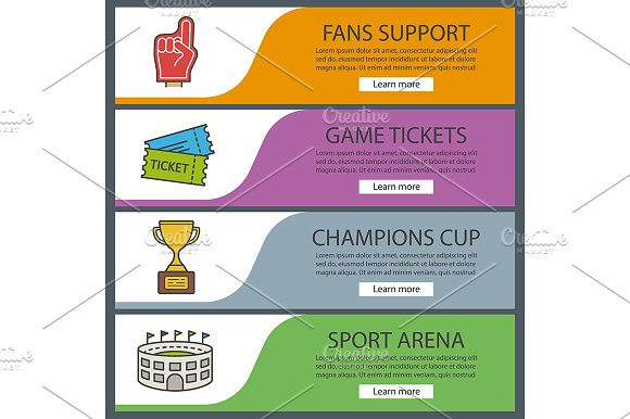 Sport Game Banners Vector