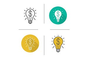 Business idea. 4 icons. Vector