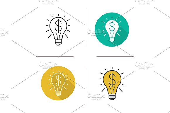 Business Idea 4 Icons Vector