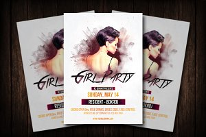 Girl Party Flyer Template