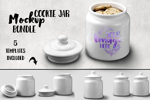 Ceramic Cookie Jar Mockup