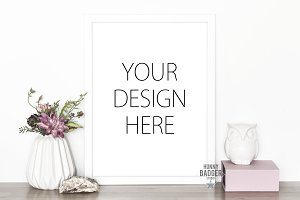 White frame mockup - art mock up