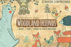 Woodland Friends: Hand Drawn Set