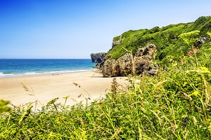 Andrin Beach, Asturias, Spain.