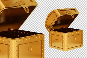 Treasure Box - 3D Render PNG