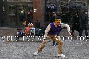 Street Dancer Break Dance on The Old Arbat