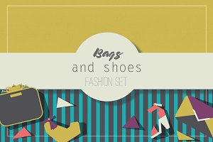 Bags and shoes fashion set
