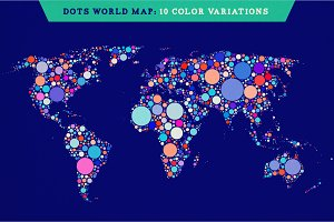 Dots World Maps