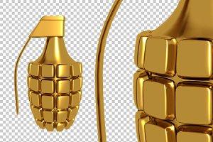 Hand Grenade - 3D Render PNG