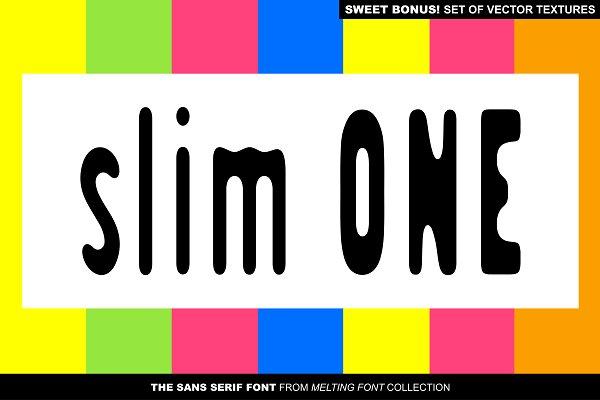 SlimOne Normal Sans Serif Font