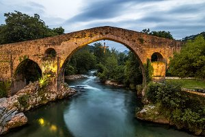Roman bridge in Cangas de Onis