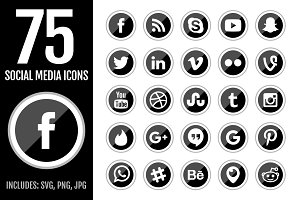 Black Social Media Icons