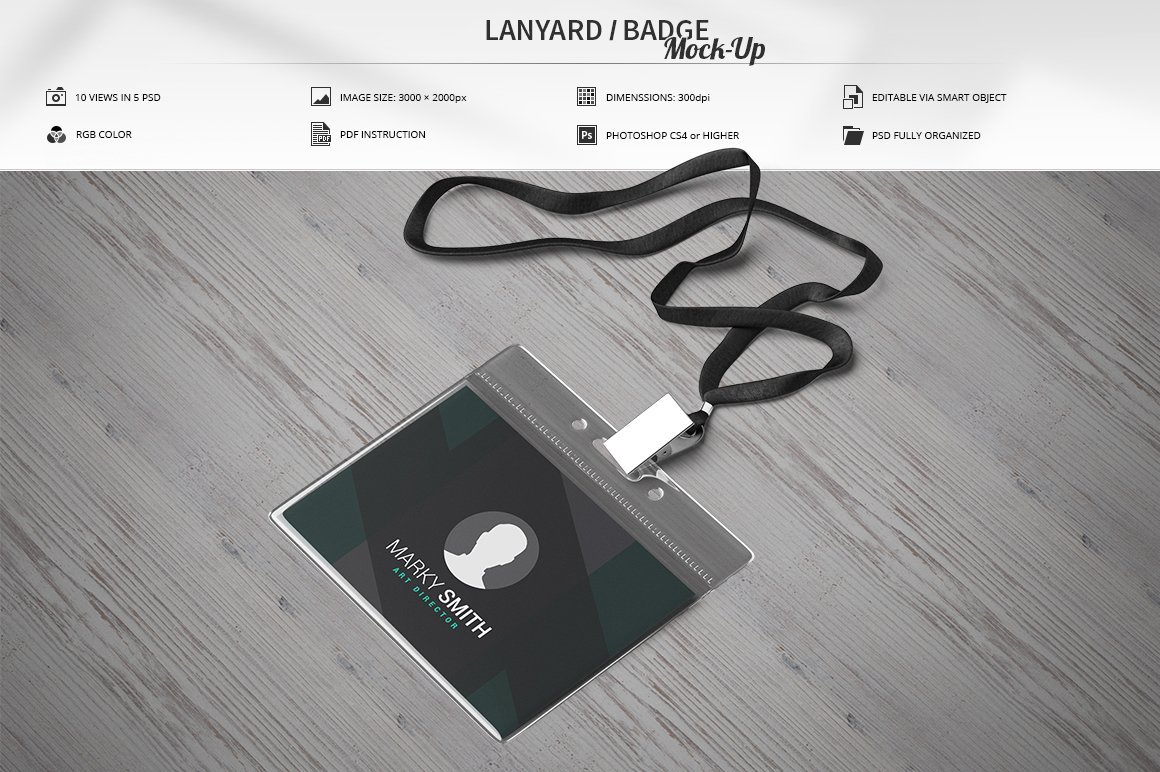 Lanyard mockup Photos, Graphics, Fonts, Themes, Templates ~ Creative ...