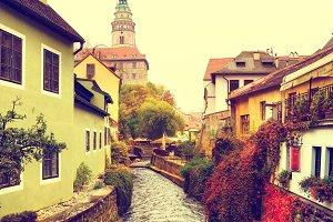 Cesky Krumlov town