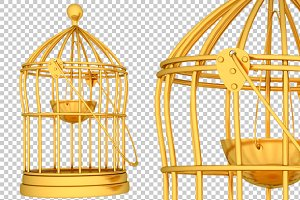 Cage - 3D Render PNG