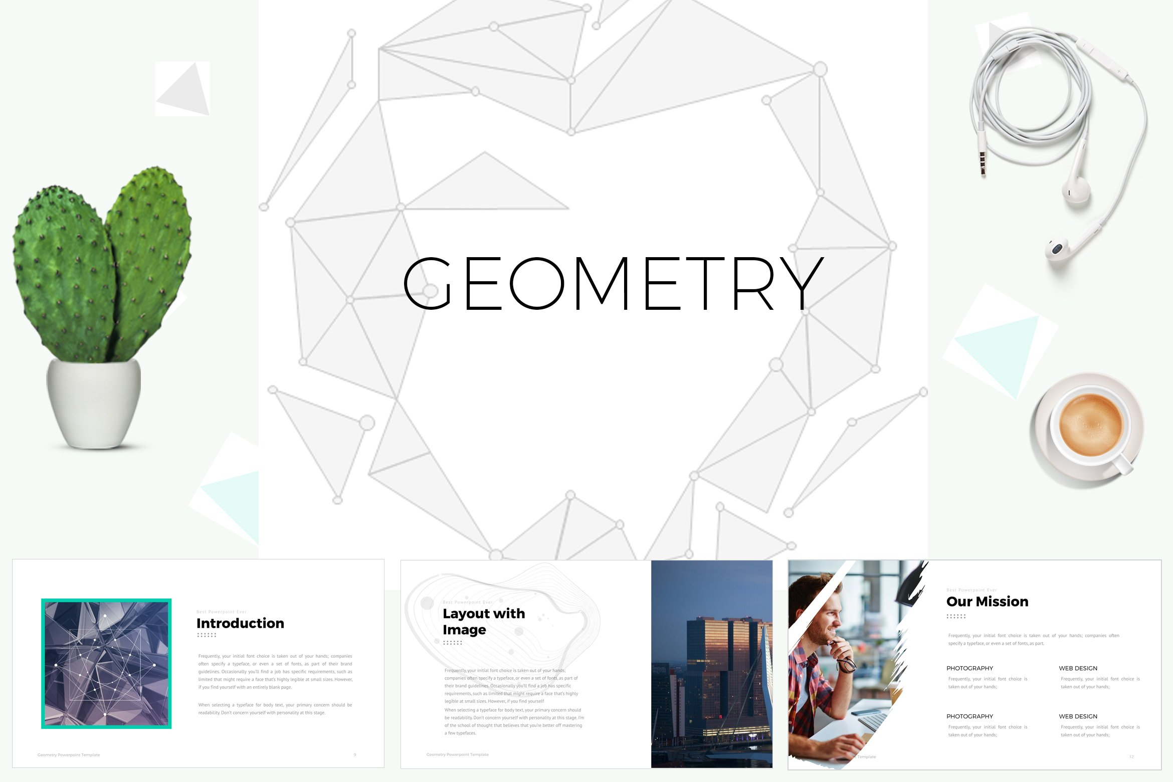 geometric powerpoint template presentation templates creative market