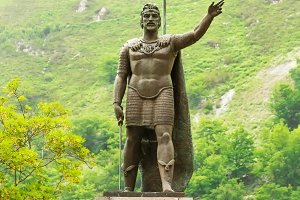 King Pelayo Sculpture at Covadonga