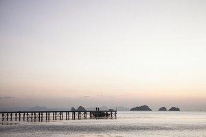Beautiful sunset on Koh-Samui