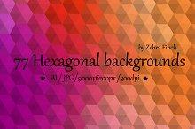 3D Hexagonal backgrounds