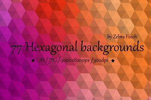3D Hexagonal backgrounds
