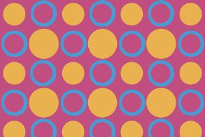 Geometric Circles Seamless Pattern