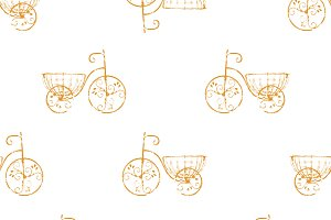 Bycicle Vintage Pattern