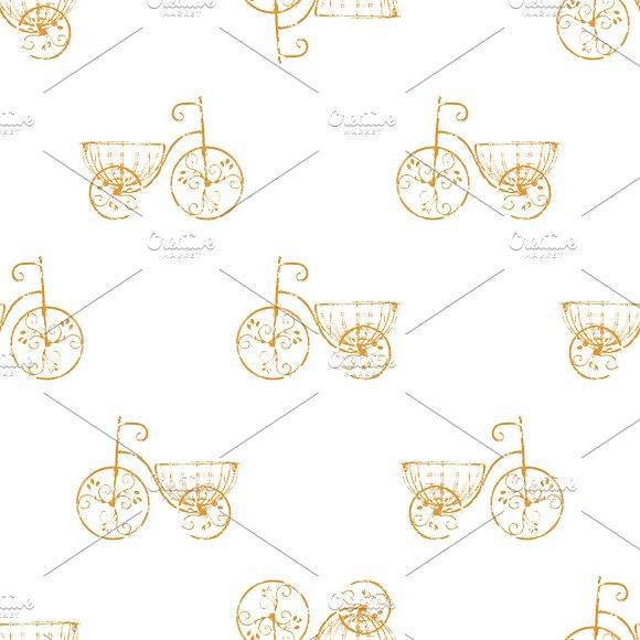 Bycicle Vintage Pattern