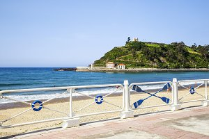 Promenade and beach of Ribadesella