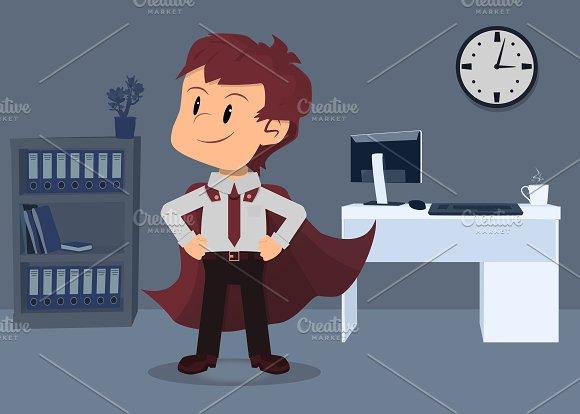 Businessman hero pose