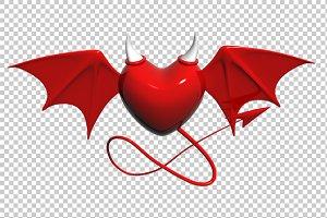 Evil Heart - 3D Render PNG