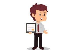 Businessman wins certificate