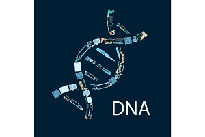 DNA vector poster of orthopedics and orthopedy