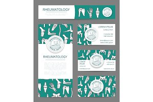 Rheumatology medical center banner template set