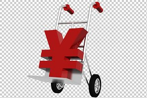 Yen Symbol - 3D Render PNG