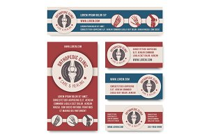 Orthopedic clinic medical banner template set
