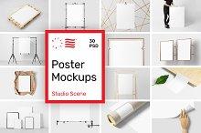 Poster Mockups - Studio Scene